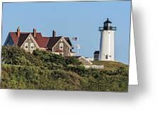 Nobska Lighthouse Woods Hole Cape Cod Ma Greeting Card by Marianne Campolongo