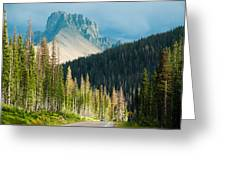 Nohku Crags Summer Storm Cameron Pass Rocky Mountains Northern Colorado Greeting Card by Robert Ford