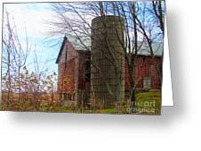 Non Working Barn Property Greeting Card by Tina M Wenger