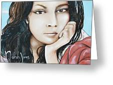 Norah Jones Mural II Greeting Card by Lorri Crossno