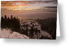Norge Greeting Card by Aaron S Bedell