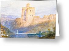 Norham Castle An illustration to Marmion by Sir Walter Scott Greeting Card by Joseph Mallord William Turner