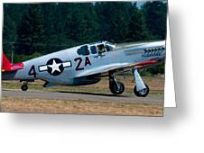 North American P-51 Mustang Greeting Card by Chris McKenna