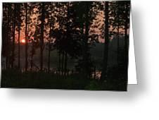 North Carolina Dawn Greeting Card by Phyllis Peterson