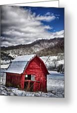 North Carolina Red Barn Greeting Card by John Haldane