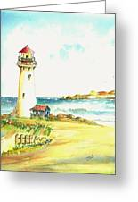 North Coast Light House Greeting Card by David Patrick