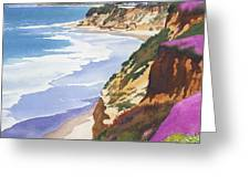 North County Coastline Greeting Card by Mary Helmreich