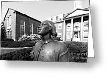 North Park College Nyvall Hall Sculpture Greeting Card by University Icons