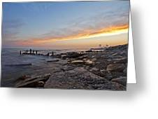 North Point Sunset Greeting Card by CJ Schmit