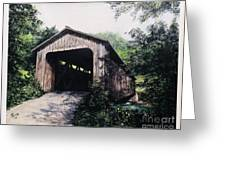 North Pole Covered Bridge Brown County Ohio Greeting Card by Rita Miller