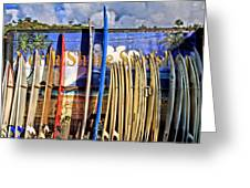 North Shore Surf Shop Greeting Card by DJ Florek
