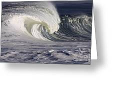 North Shore Wave Curl Greeting Card by Vince Cavataio