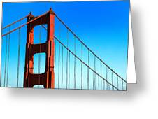 North Tower Golden Gate Greeting Card by Garry Gay