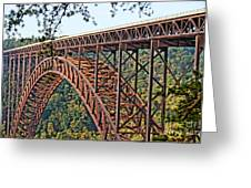 Northeast Close-up Of New River Gorge Bridge Greeting Card by Timothy Connard