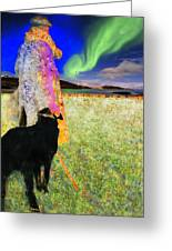 Northern Lights Greeting Card by Chuck Staley