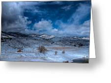 Northern View From Horsetooth Reservoir Greeting Card by Harry Strharsky
