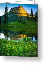 Northwest Sunrise Greeting Card by Inge Johnsson