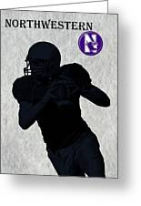 Northwestern Football Greeting Card by David Dehner