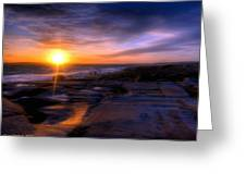 Norwegian Sunset Greeting Card by Bruce Nutting