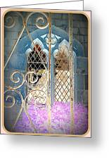 Nostalgic Church Window Greeting Card by The Creative Minds Art and Photography