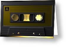 Nostalgic Macro Cassette Tape Greeting Card by Allan Swart