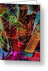 Notes On Fire Digital Guitar Art By Steven Langston Greeting Card by Steven Lebron Langston