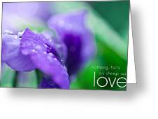 Nothing Falls As Deep As Love Greeting Card by Shane Holsclaw