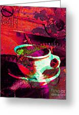 Nothing Like A Hot Cuppa Joe In The Morning To Get The Old Wheels Turning 20130718m43 Greeting Card by Wingsdomain Art and Photography