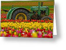 Nothing Runs Like A Deere Greeting Card by Nick  Boren