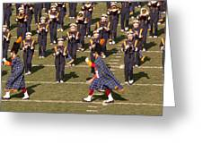 Notre Dame Band Greeting Card by David Bearden