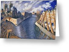Notre Dame Cathedral Greeting Card by Charlotte Johnson Wahl