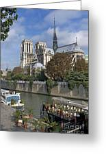 Notre Dame Cathedral. Paris Greeting Card by Bernard Jaubert