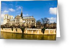 Notre Dame De Paris And The River Seine Greeting Card by Mark Tisdale