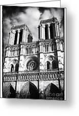 Notre Dame Greeting Card by John Rizzuto