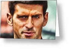 Novak Djokovic Greeting Card by Nishanth Gopinathan