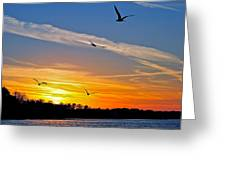 November Sunset Ia Greeting Card by Frozen in Time Fine Art Photography