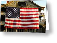 Now This Is A Flag Greeting Card by John  Williams