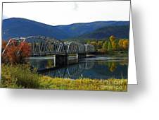 Noxon Bridge  Greeting Card by Tonya P Smith