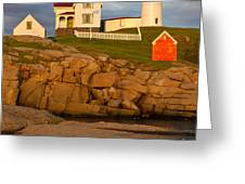 Nubble Lighthouse No 1 Greeting Card by Jerry Fornarotto