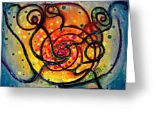 Nuclear Fusion Greeting Card by Regina Valluzzi