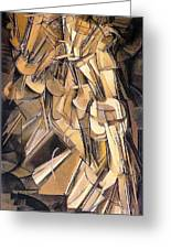 Nude Descending A Staircase Greeting Card by Pg Reproductions