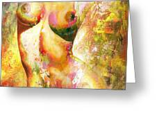 Nude Details - Digital Vibrant Color Version Greeting Card by Emerico Imre Toth