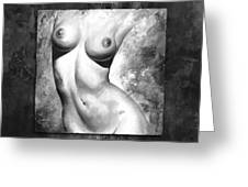 Nude Details - Style Black And White Greeting Card by Emerico Imre Toth
