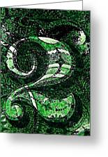 Number Two In Green  Greeting Card by Chris Berry