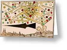 Nuremberg Ufo 1561 Greeting Card by Science Source