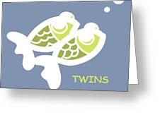 Nursery Wall Art For Twins Greeting Card by Nursery Art