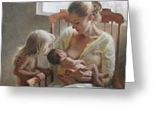 Nurturer Greeting Card by Anna Rose Bain