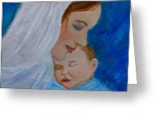 Nurturing Love Of A Mother  Greeting Card by The Art With A Heart By Charlotte Phillips