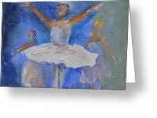 Nutcracker Ballet Greeting Card by Donna Tuten