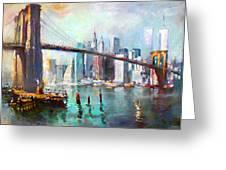 Ny City Brooklyn Bridge II Greeting Card by Ylli Haruni